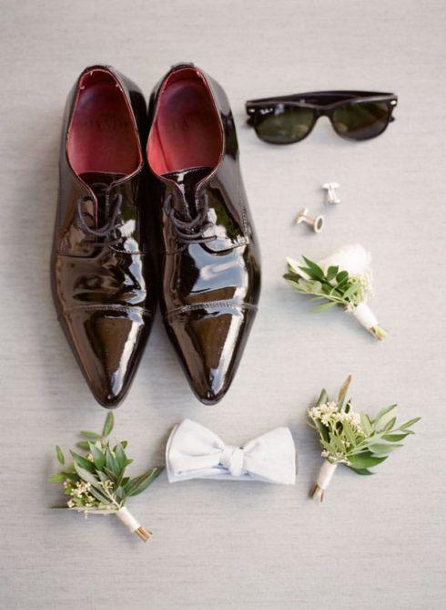 Organic destination wedding in a Tuscan Villa groom accessories