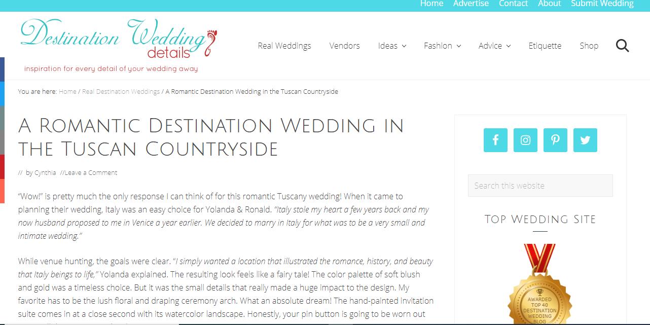 104 - Destination Wedding Details (Yolanda&Ronald)